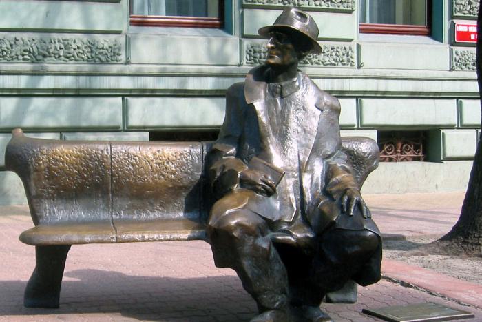 Julian Tuwim na lavičke - pešia zóna vLodži