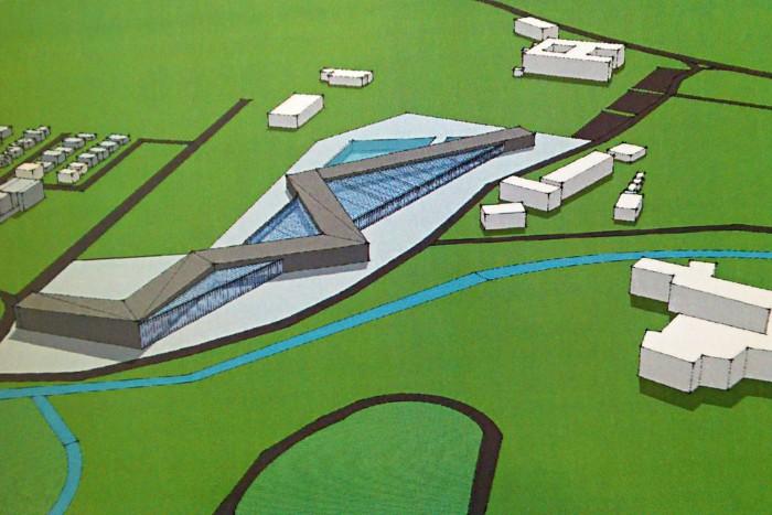 Takto by mal akvapark vyzerať (poliklinika v hornej časti)