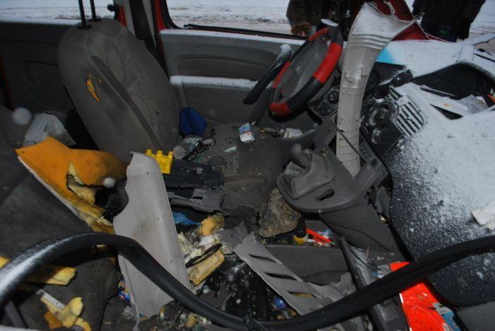 Na snímke následky explózie v osobnom aute na Ulici Andreja Hlinku. Zdroj: KR PZ Trnava
