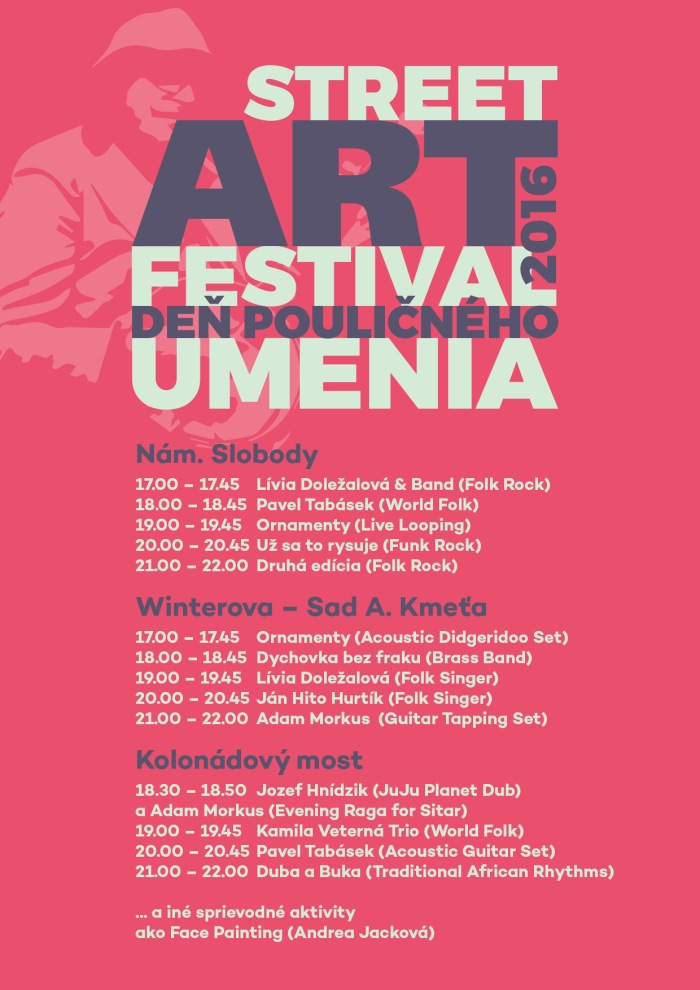 street art festival piestany program